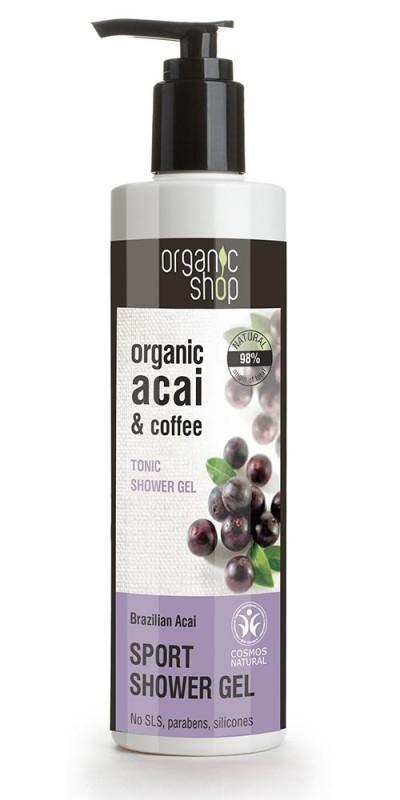 Gel de dus bio cu acai berry si cafea, Brazilian Acai - Organic Shop