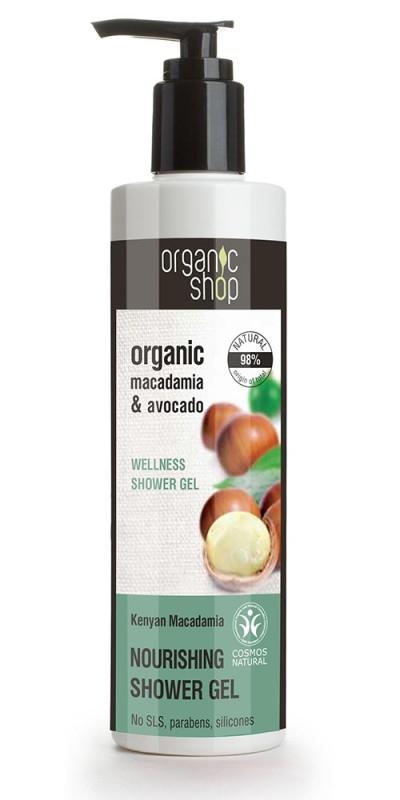 Gel de dus bio cu macadamia si avocado, Kenyan Macadamia - Organic Shop