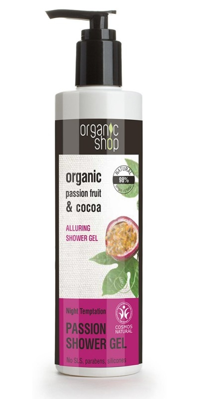 Gel de dus bio cu fructul pasiunii si cacao, Night Temptation - Organic Shop