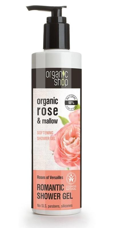 Gel de dus bio cu trandafiri si nalba,  Roses Of Versailles - Organic Shop