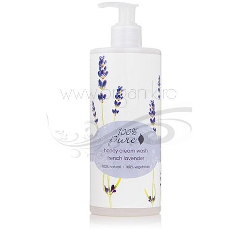Gel de dus crema cu miere si lavanda - 100 Percent Pure Cosmetics