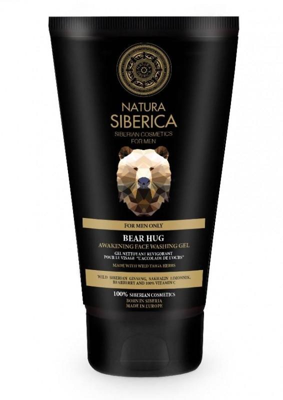 Gel revigorant pentru curatare ten barbati, Bear Hug - Natura Siberica