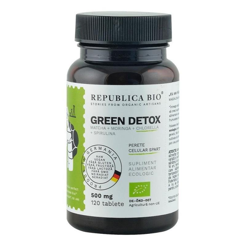 Green Detox (500 mg) supliment alimentar ecologic, 120 tablete -  Republica BIO