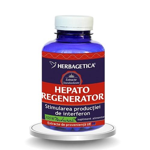 HepatoRegenerator, 120 capsule - HERBAGETICA