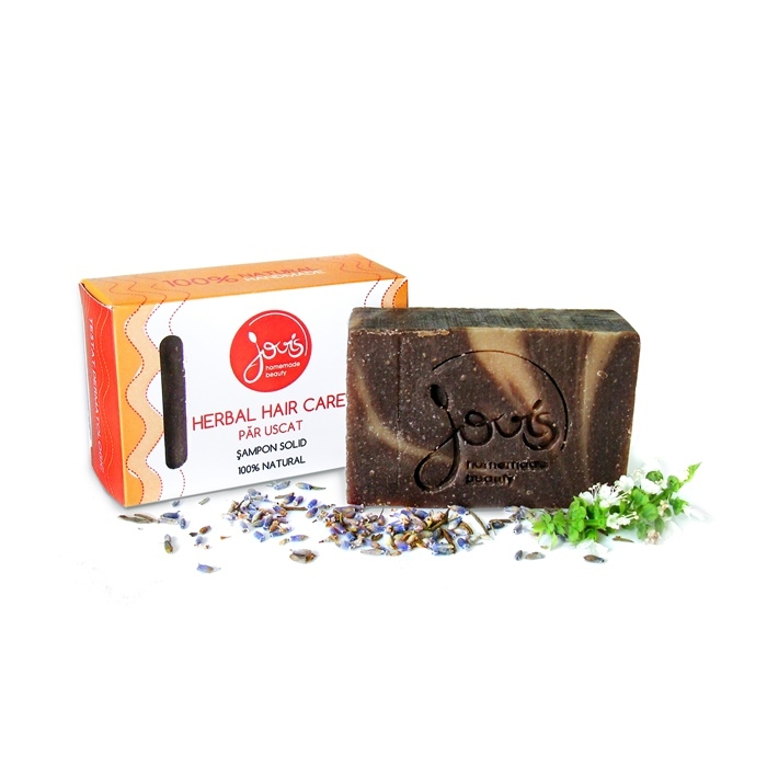 Sampon solid Herbal Hair Care pentru par uscat - Jovis Homemade Beauty