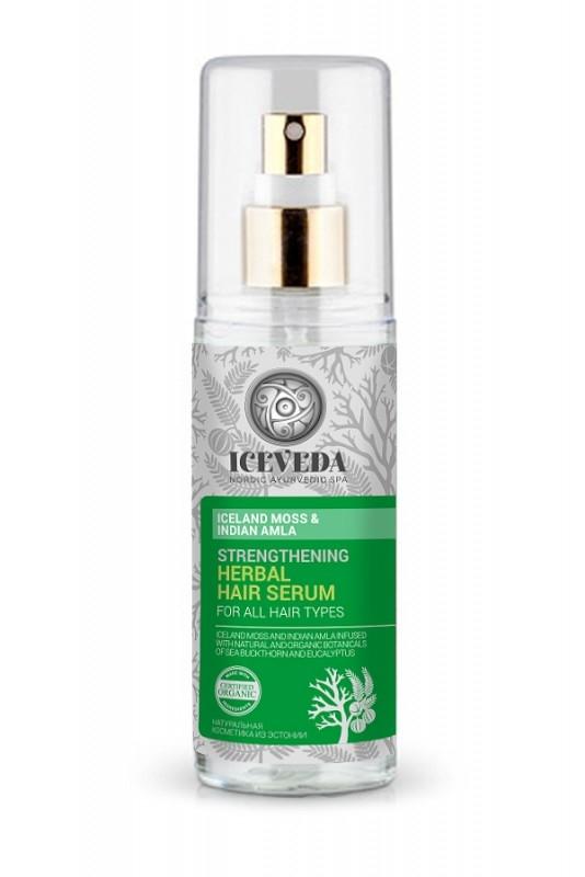 Serum fortifiant pentru par cu extract de lichen si amla indiana, 125 ml - ICEVEDA