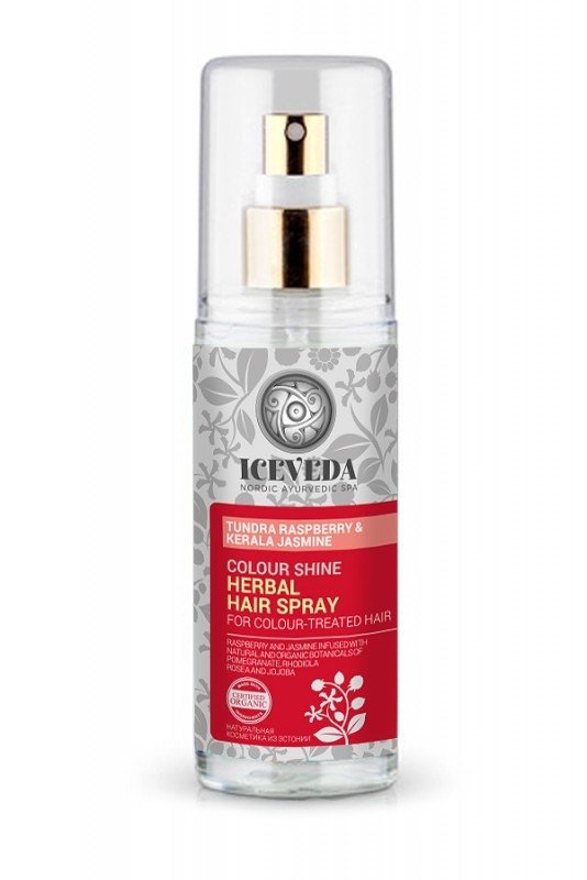 Spray luciu par vopsit cu iasomie indiana si zmeur arctic, 125ml - ICEVEDA