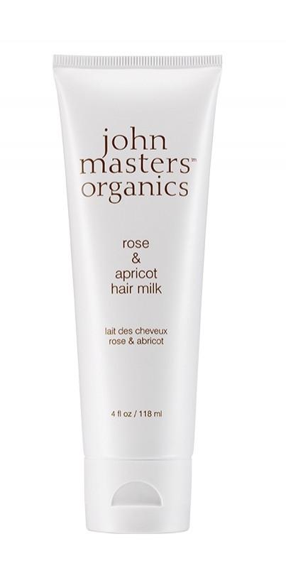 Lapte de par leave-in pentru styling si ingrijire cu Trandafir & Caise, 118ml - John Masters Organics