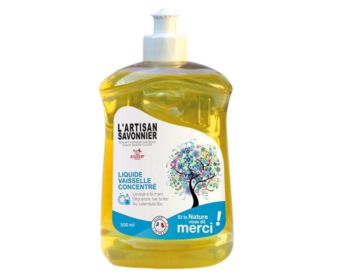 Detergent bio pentru vase concentrat si degresant, cu galbenele 500 ml - ARTISAN SAVONNIER