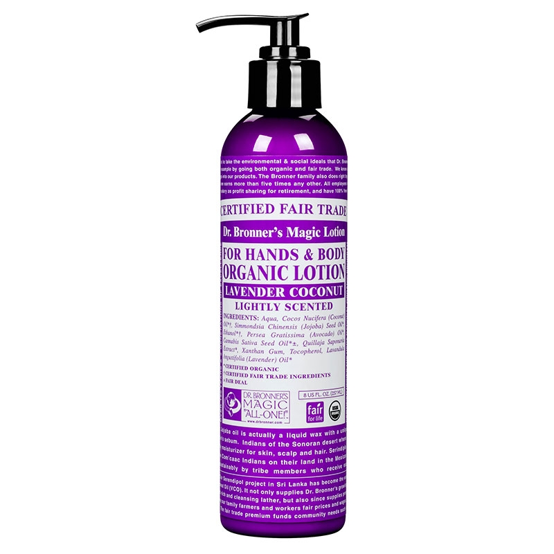 Lotiune de corp organica Lavanda si Cocos, 237 ml - DR. BRONNER
