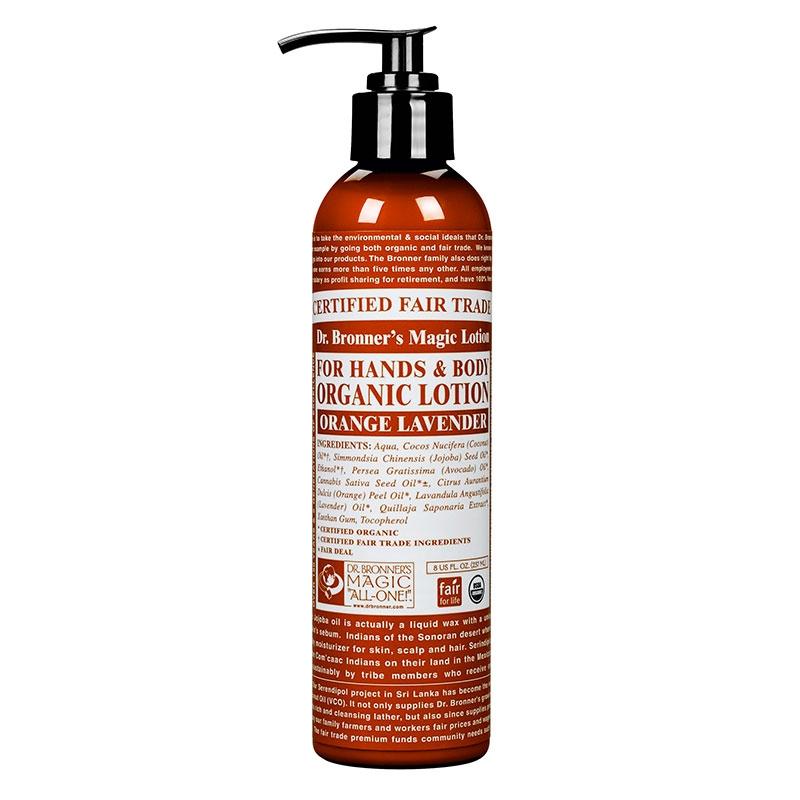 Lotiune de corp organica Portocala si Lavanda, 237 ml - DR. BRONNER