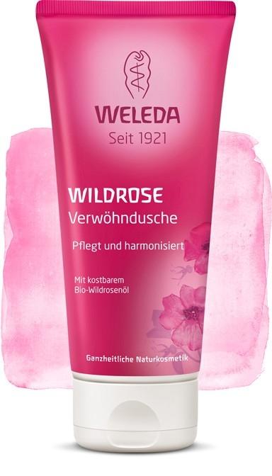 Lotiune de dus cremoasa cu trandafir salbatic - Weleda
