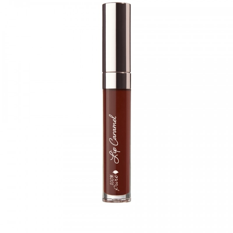 Ruj lichid Lip Caramel, Plum Wine - 100 Percent Pure Cosmetics