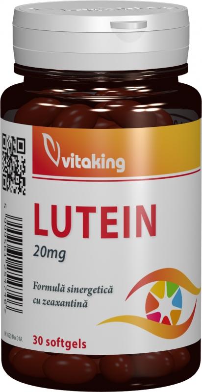 Luteina 20mg cu zeaxantina, 30 cps gelatinoase - Vitaking