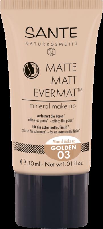 Fond de ten mineral MATTE MATT EVERMAT 03 Golden - SANTE NATURKOSMETIK