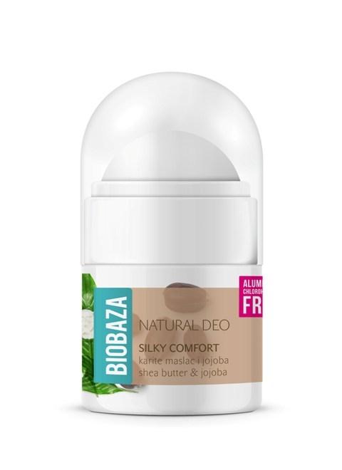 MINI Deodorant natural pentru femei SILKY COMFORT, 20ml - BIOBAZA