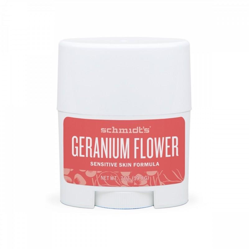 MINI Deodorant stick cu magneziu pentru piele sensibila, Geranium - Schmidts's Deodorant