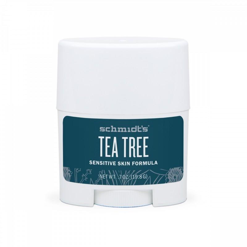 MINI Deodorant stick cu magneziu pentru piele sensibila, Tea tree - Schmidts's Deodorant