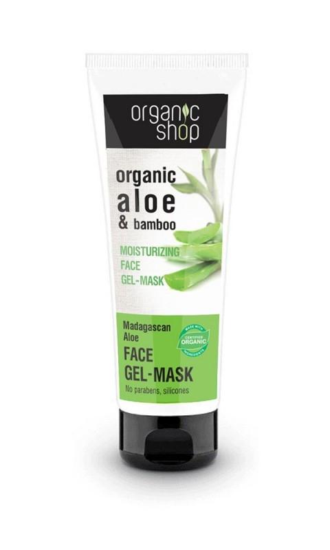 Masca-gel hidratanta cu aloe si bambus Madagaskan Aloe, 75 ml - Organic Shop