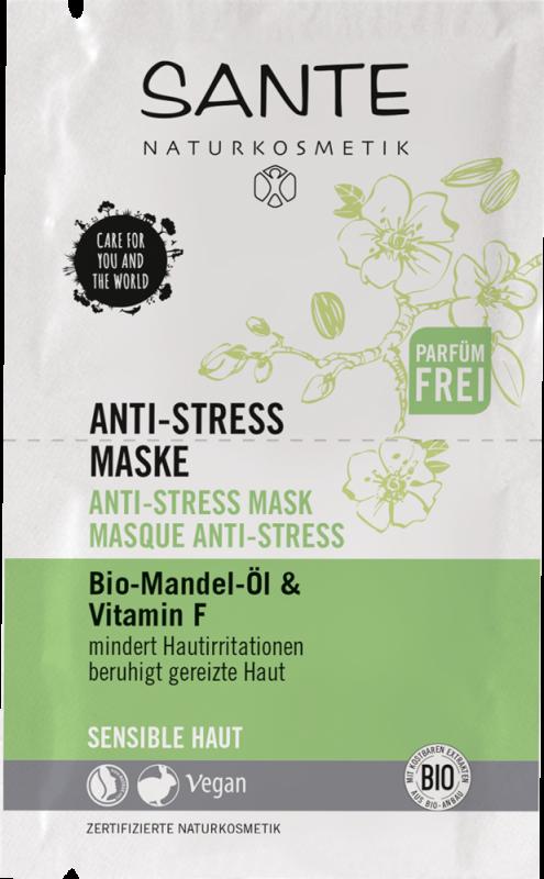 Masca antistress pentru tenul sensibil iritat cu vitamina F, 8ml - Sante Naturkosmetik
