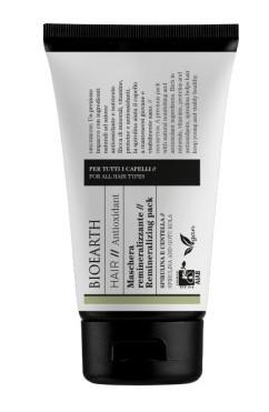 Masca de par remineralizanta cu spirulina si centella, 150ml - Bioearth Hair Antioxidant