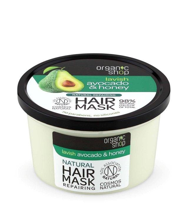 Masca de par bio reparatoare Avocado & Miere, 250 ml (new) - Organic Shop