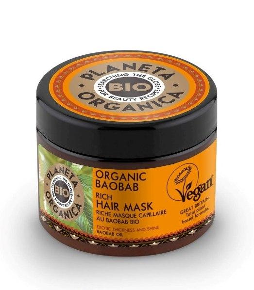 Masca de par volum si stralucire, cu ulei de baobab, 300ml - Planeta Organica