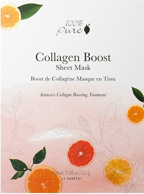 Masca peliculara Collagen Boost - 100 Percent Pure Cosmetics