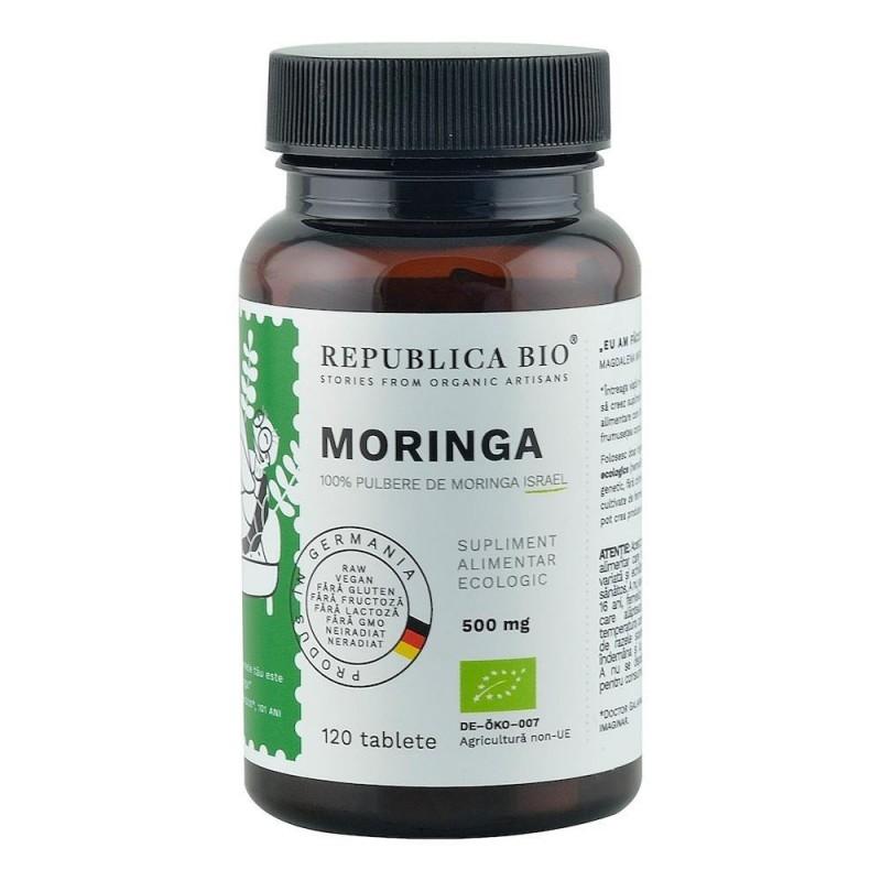 Moringa Ecologica din Israel (500 mg), 120 tablete -  Republica BIO