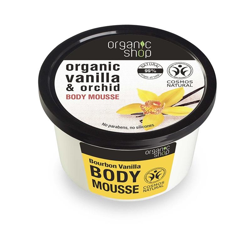 Mousse delicios pentru corp Bourbon Vanilla, 250 ml - Organic Shop