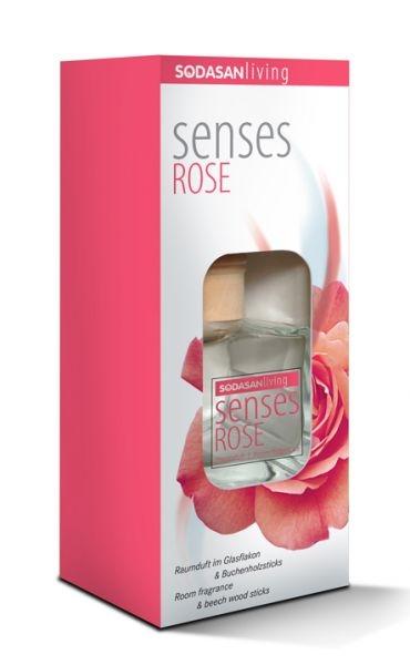 Odorizant bio de camera SENSES Trandafir, 200 ml - Sodasan