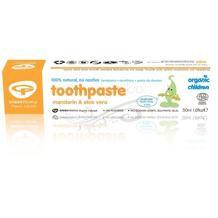 Pasta de dinti naturala pentru copii cu mandarine - Green People