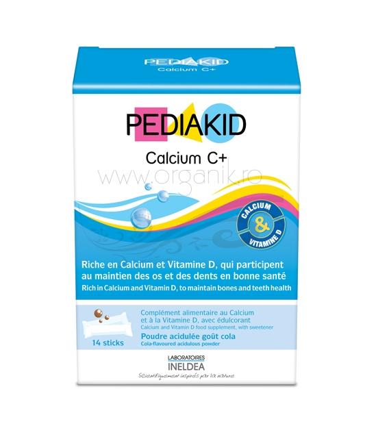 Pediakid CALCIUM +,  Calciu si vitamina D3 pentru copii, 14 plicuri - PEDIAKID