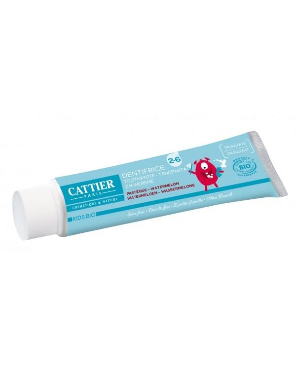 Pasta de dinti bio fara fluor, cu aroma de pepene, copii 2-6 ani - CATTIER