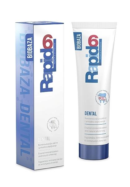 Pasta de dinti nonabraziva pentru remineralizare si albire RAPID 6, 100ml - BIOBAZA
