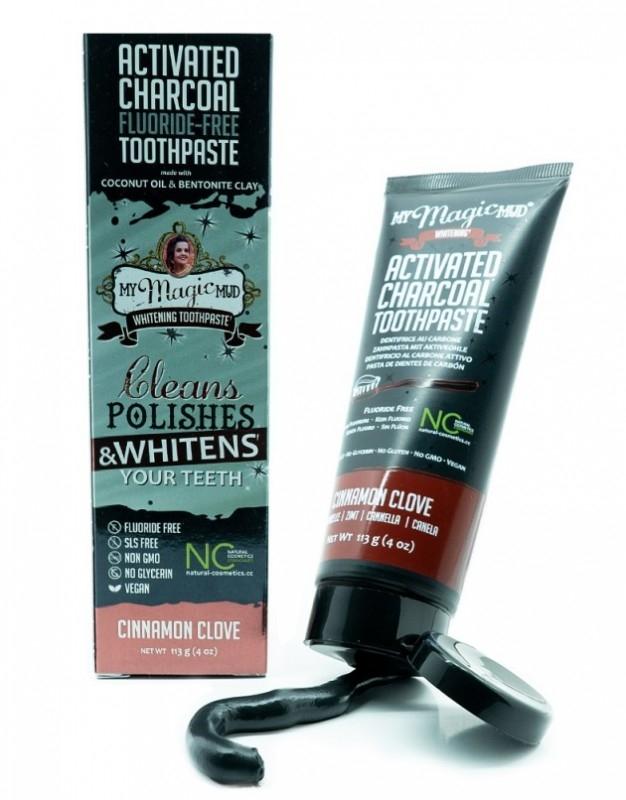 Pasta de dinti pentru albire cu carbon si bentonita, CINNAMON & CLOVE - My Magic Mud