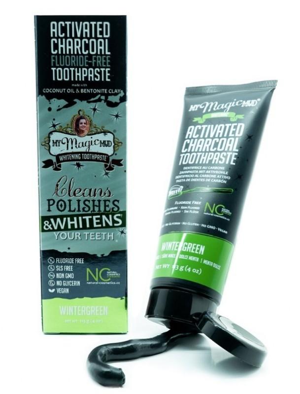 Pasta de dinti pentru albire cu carbon si bentonita, WINTERGREEN - My Magic Mud