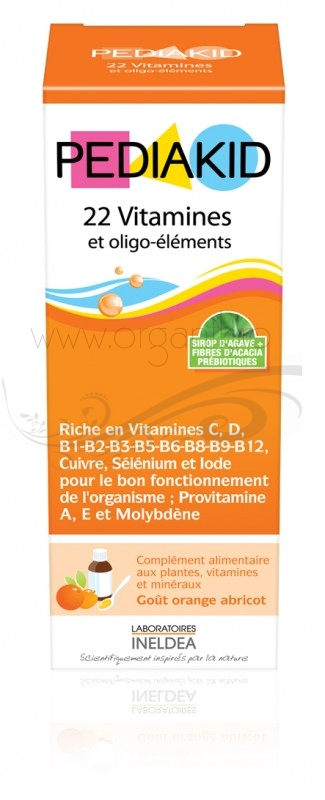 Pediakid 22 Vitamine si Oligo-elemente pentru copii, sirop 125 ml - PEDIAKID
