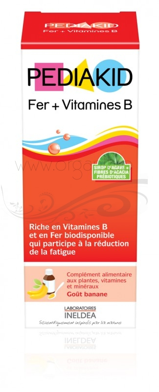 Pediakid Fier + Vitamina B pentru copii, sirop 125 ml - PEDIAKID