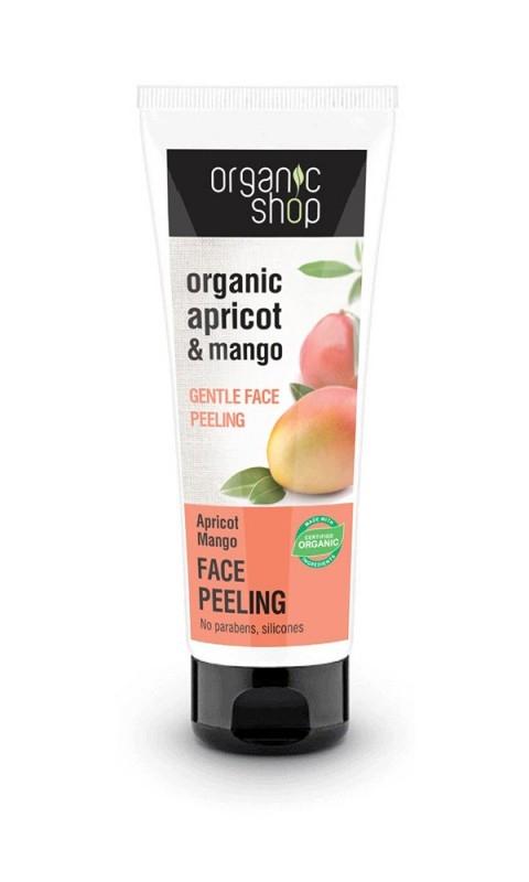 Peeling delicat pentru ten cu mango si caise, 75 ml - Organic Shop
