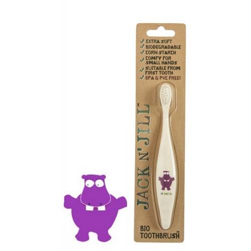 Periuta de dinti ECO pentru bebe si copii, Hippo - Jack n' Jill