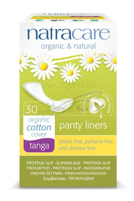 Protej slip din bumbac organic tanga 30 buc - Natracare