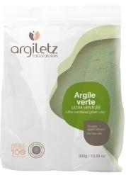 Pudra de argila verde ultra-ventilata pentru ten normal sau gras, 300g - Argiletz