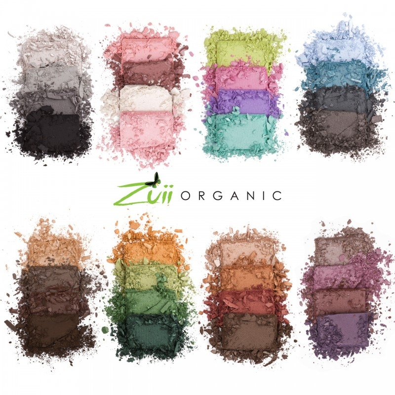 Paleta farduri de pleoape organice cu ingrediente florale, SUMMER - ZUII Organic