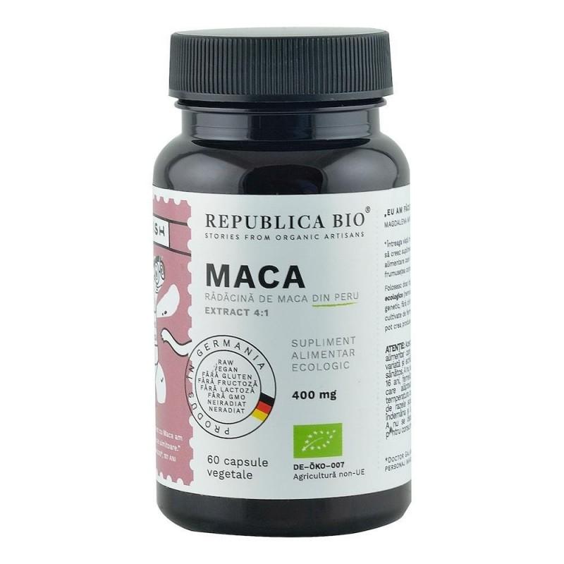 Maca Ecologica din Peru (400 mg - extract 4:1), 60 capsule - Republica BIO