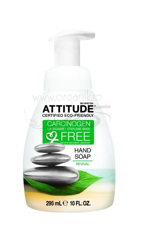 Sapun lichid de maini revigorant, 295ml - ATTITUDE