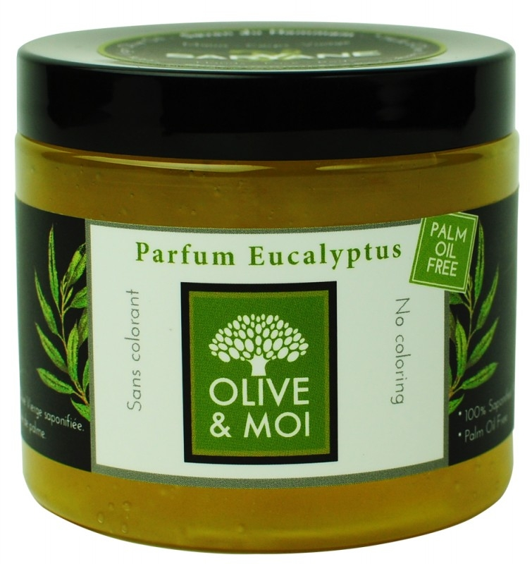 Sapun negru pentru Hammam cu eucalipt, 200g - Saryane