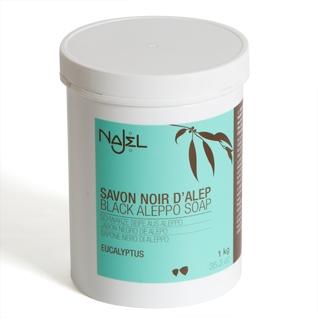 Sapun negru de Alep exfoliant cu eucalipt, 1 kg - NAJEL