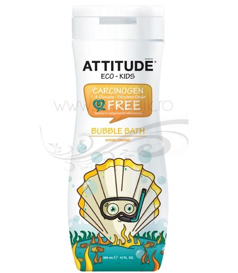 Spumant de baie pentru copii Eco-Kids, 355 ml - ATTITUDE