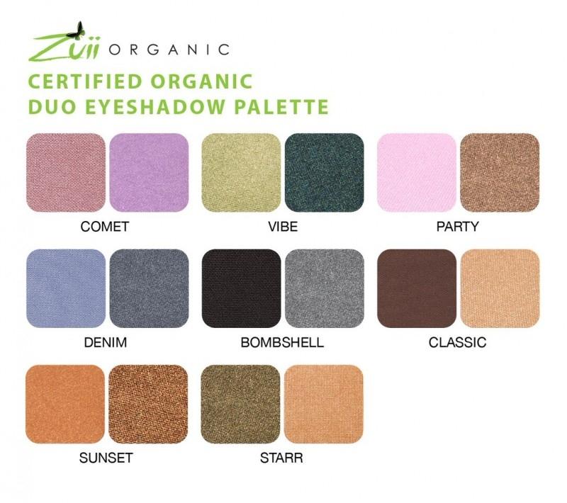 Fard de pleoape organic DUO cu ingrediente florale, CLASSIC - Zuii Organic